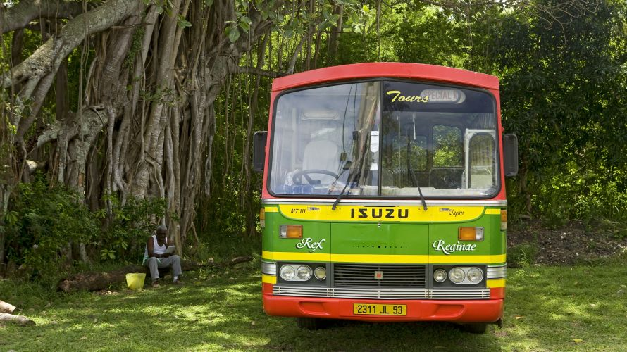 Local bus on Mauritius